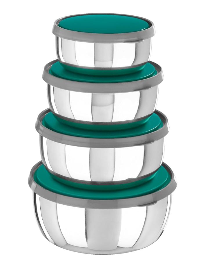 GOURMETmaxx GOURMETmaxx bollesett i 8 deler av stål, sølvvarget/grøn