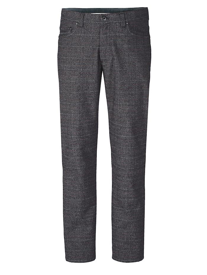 BABISTA Pantalon d'aspect laine, Noir/Rouge