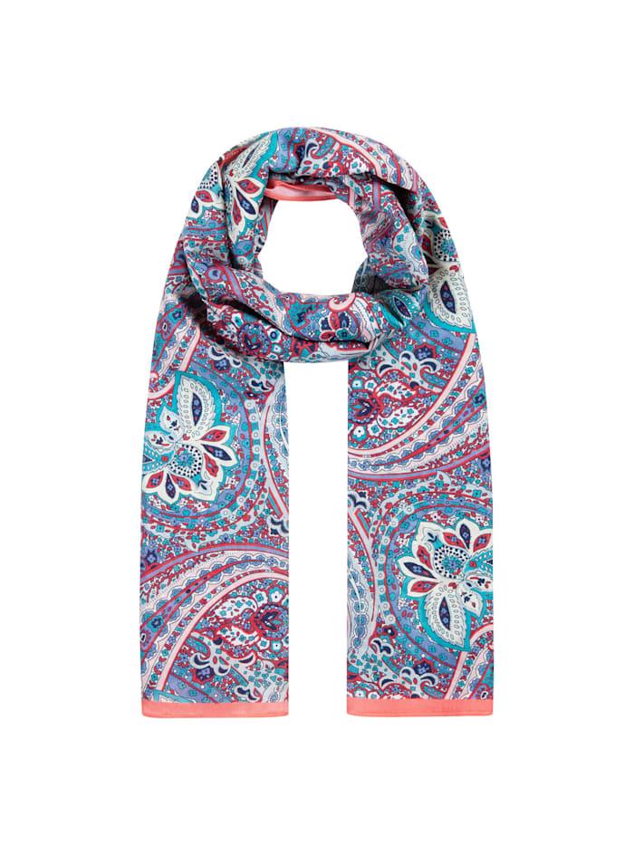 Codello Hauchfeiner Paisley-Schal aus Baumwolle und Seide, light pink