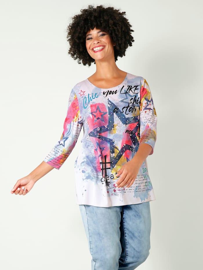 Angel of Style Shirt mit Dekoperlen und Steinchen, Multicolor