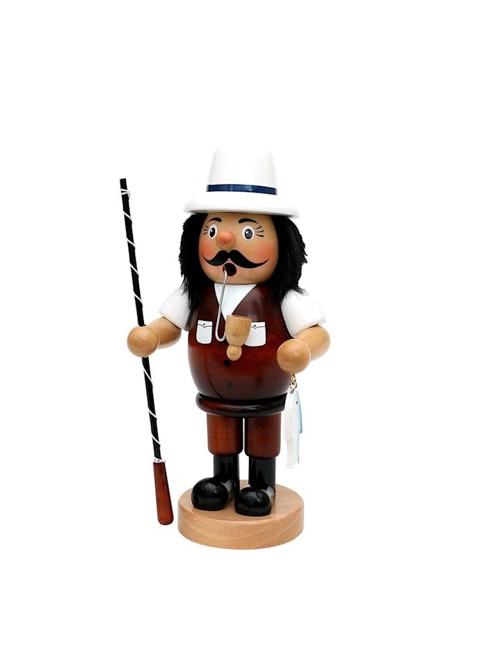 Sigro Holz Räuchermann Angler, Bunt