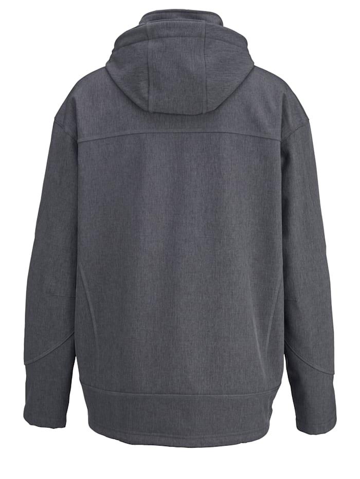 Softshell bunda s odnímateľnou kapucňou
