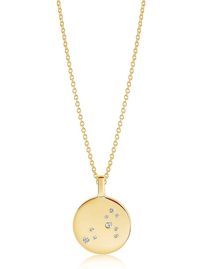 Sif Jakobs Sif Jakobs Jewellery Damen-Kette 925er Silber rhodiniert Zirkonia, gold