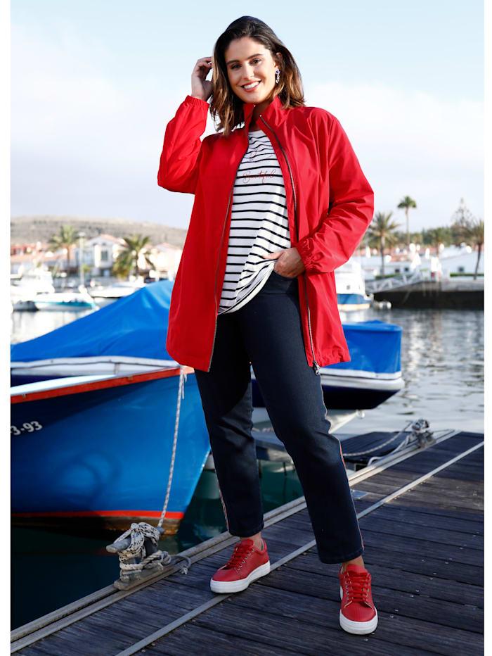 Sara Lindholm Jacke mit Reißverschluss, Rot