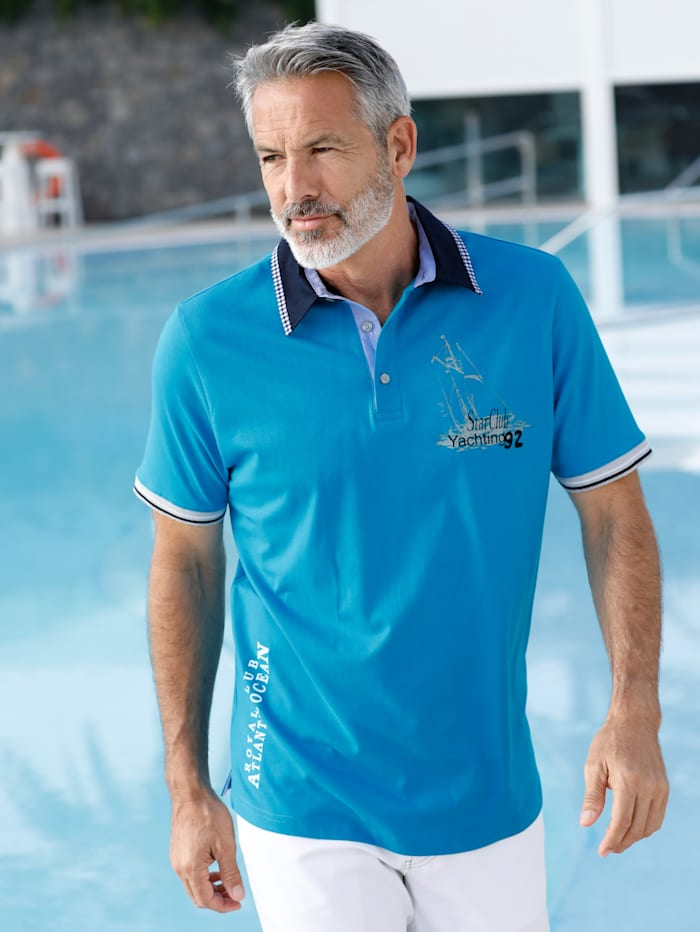 BABISTA Poloshirt in maritieme stijl, Royal blue