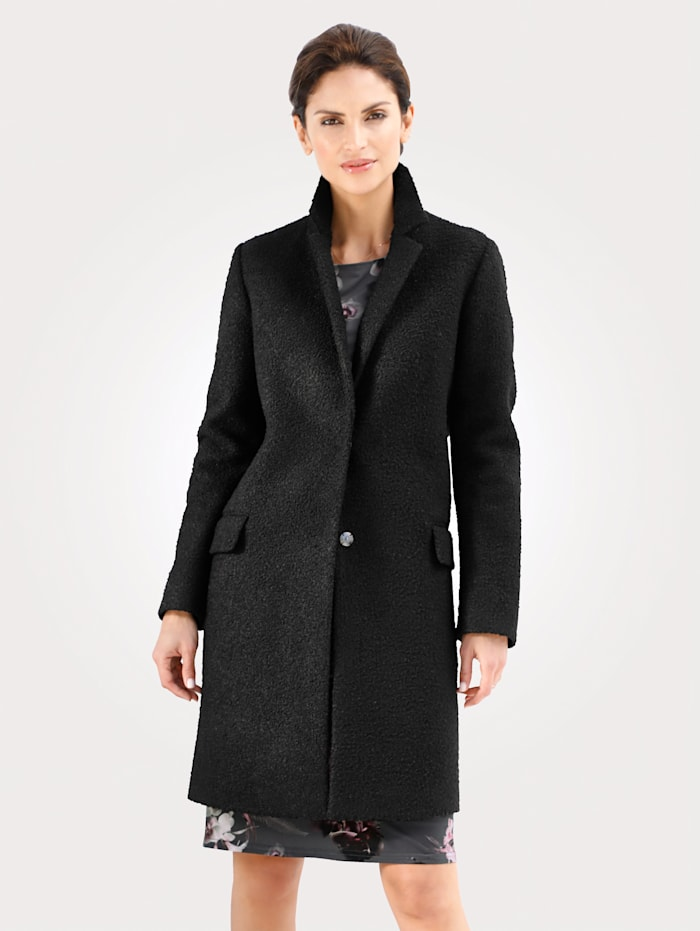 MONA Mantel aus Bouclé-Qualität, Schwarz
