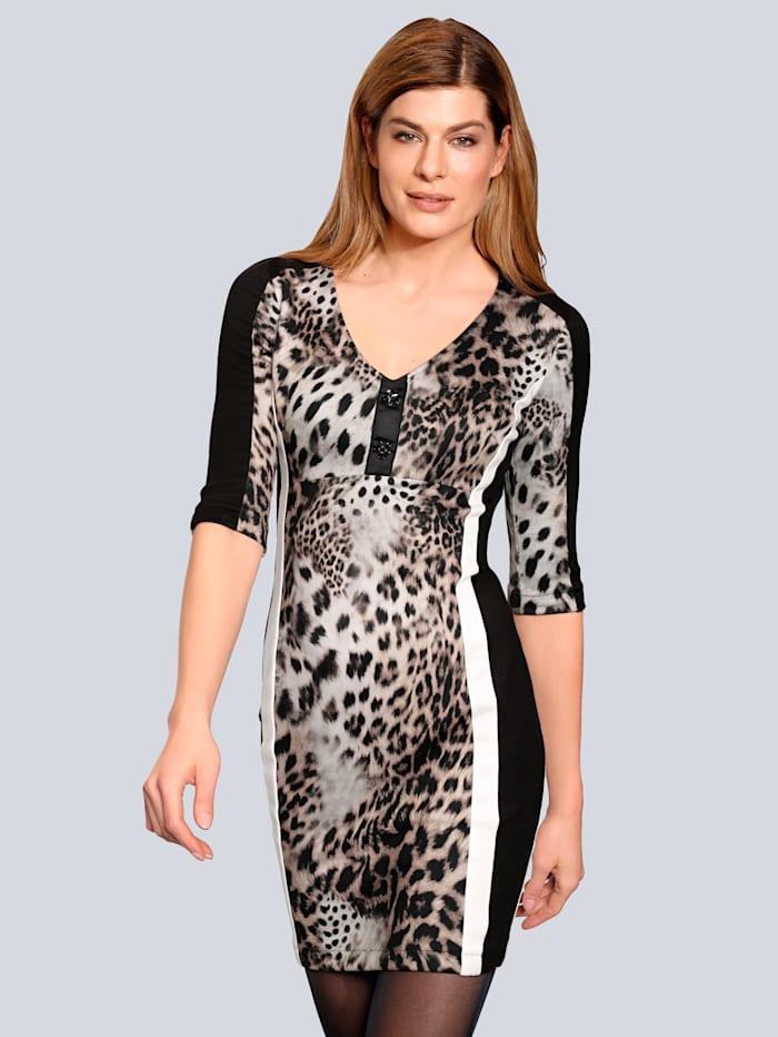 SPORTALM Kleid im modischen Leodruck, Braun