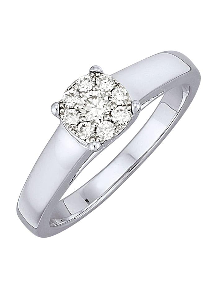 Amara Diamants Bague avec brillants, Blanc