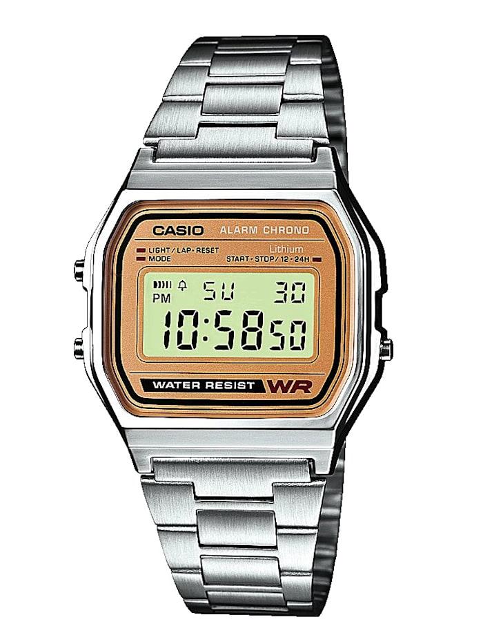 Casio Digital-Uhr Chronograph A158WEA-9EF, Silberfarben