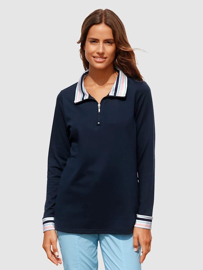 basically you Sweatshirt mit Streifendetails, Marineblau