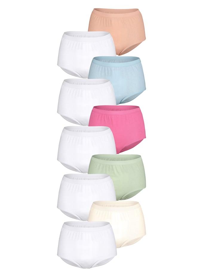 Harmony Maxislip in günstiger Mehrfachpackung, 5x weiß, 1x bleu, 1x champagner, 1x lachs, 1x rosé, 1x mint