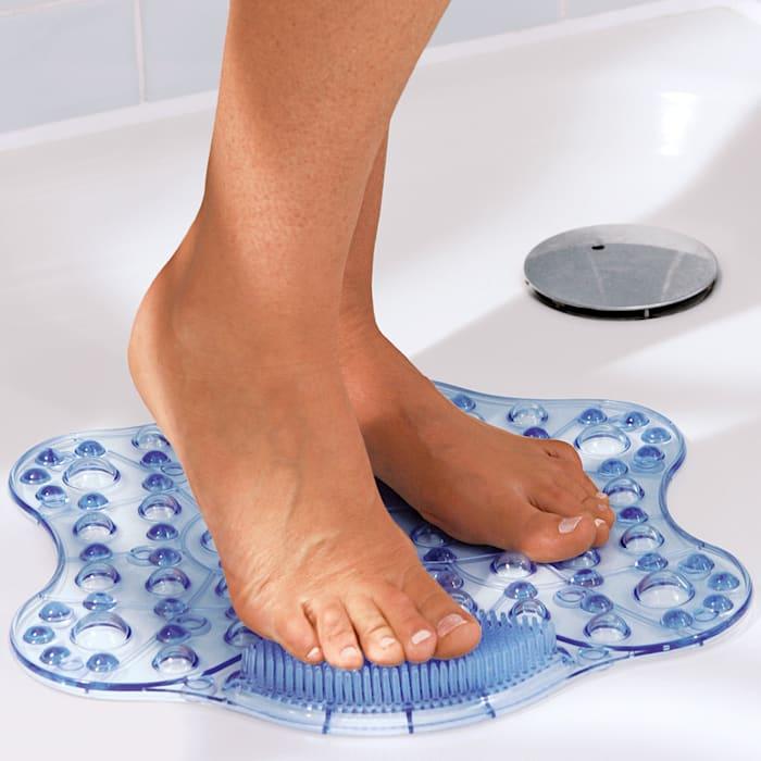 GHZ Wellness-Duschmatte Optimaler Schutz vor dem Ausrutschen, Blau