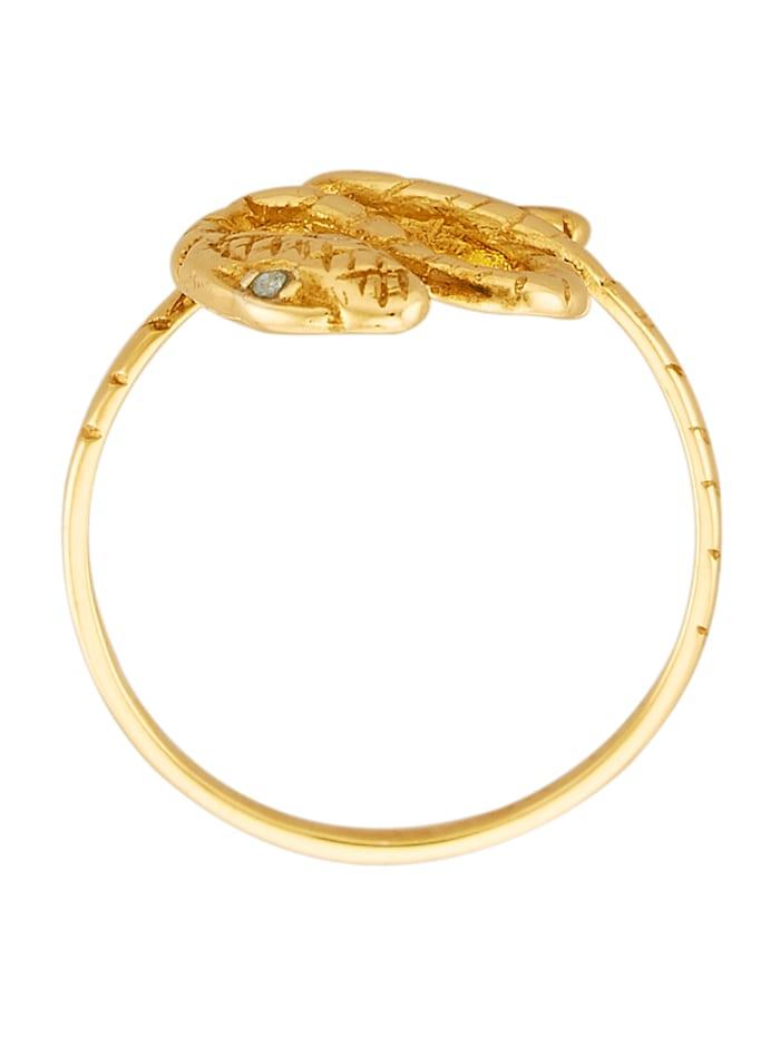 Bague Serpent en argent 925, doré
