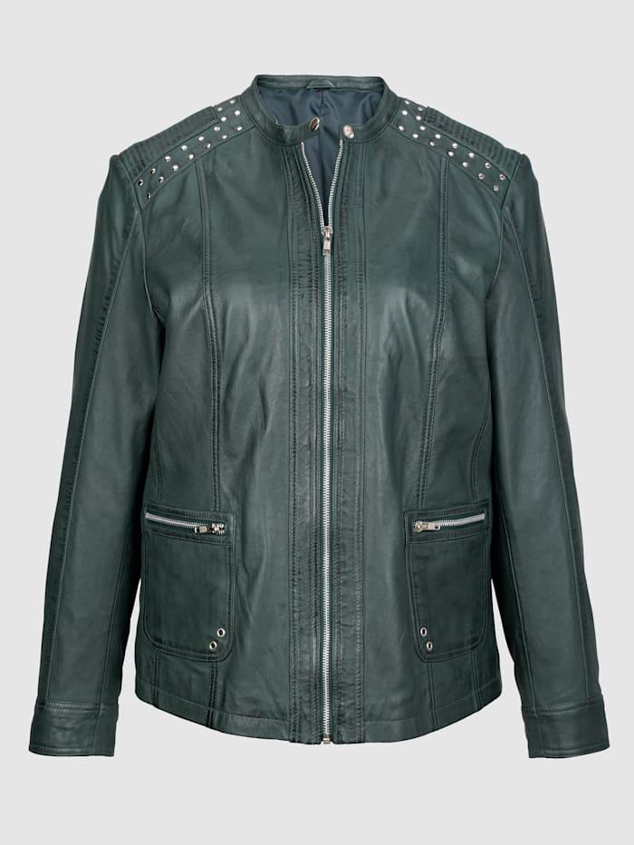Kožená bunda z hodnotnej jahňacej kože