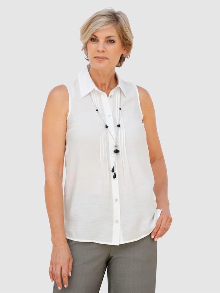 Paola Bluse med avtagbart kjede, Hvit