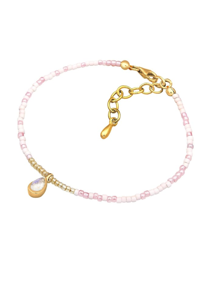 Armband Beads Trend Basic Mondstein 925 Sterling Silber