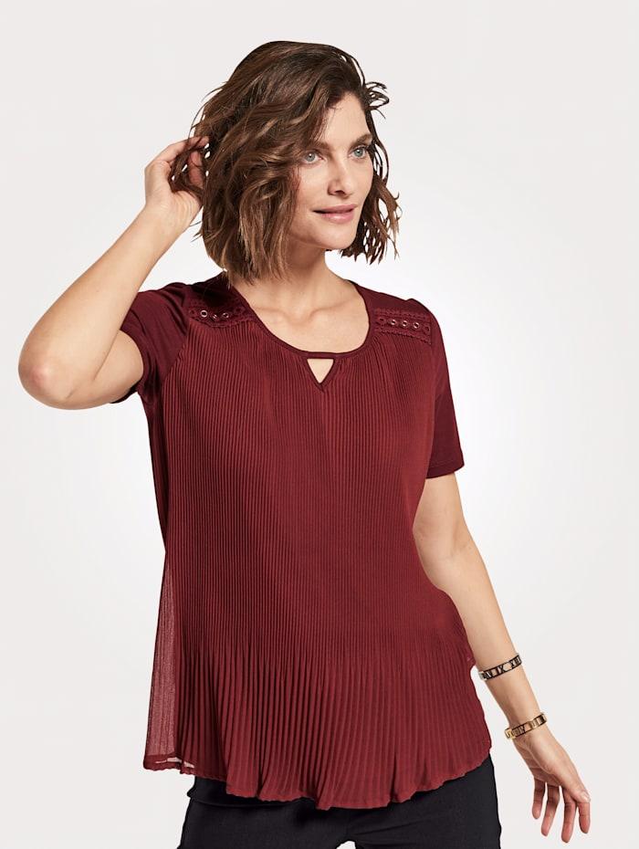 MONA Shirt mit Plissee, Beere