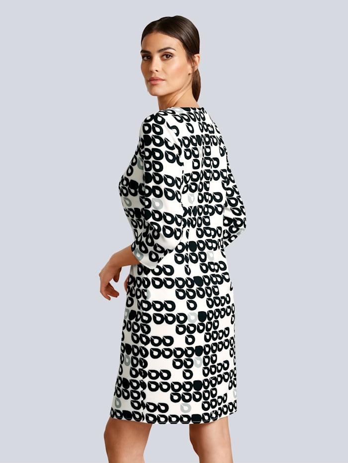 Kleid im Kreise-Dessin allover