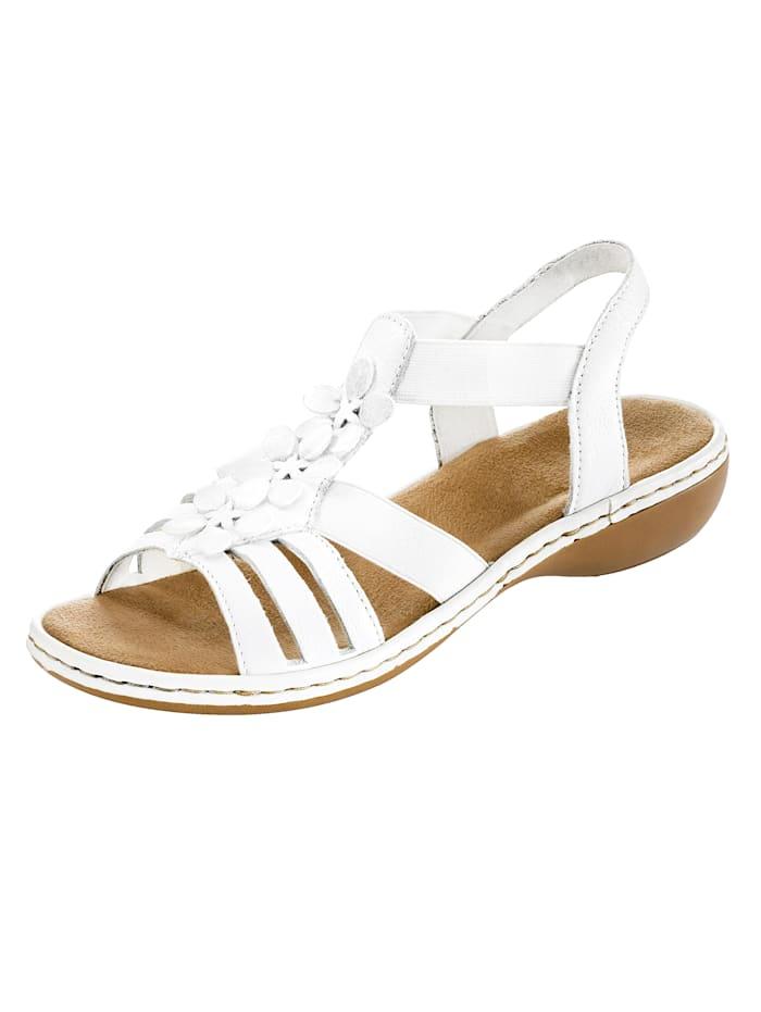 Rieker Vita sandaler, Vit