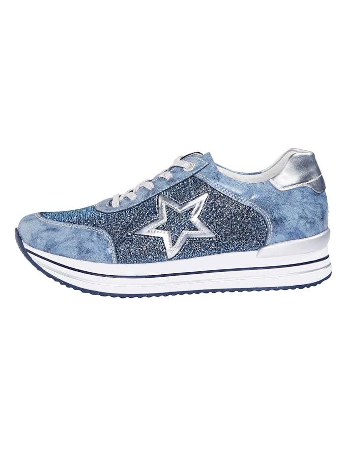 Sneaker met glittereffect