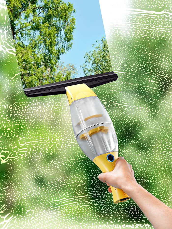 Cleanmaxx CLEANmaxx Akku-Fensterreiniger mit praktischer Verlängerungsstange, gelb/schwarz