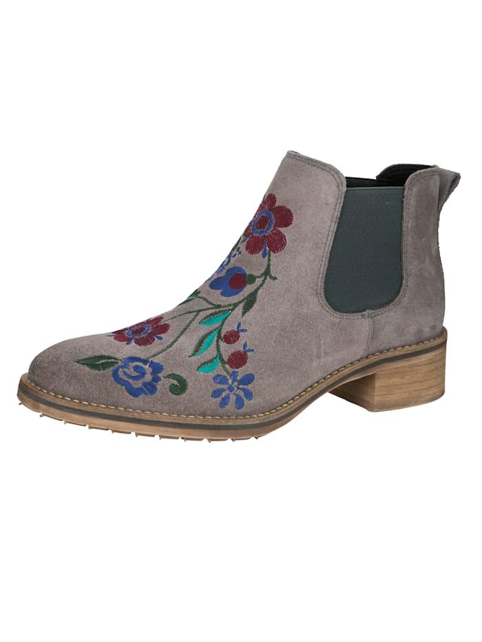 Chelsea-Boot mit wunderschöner floralen Stickerei