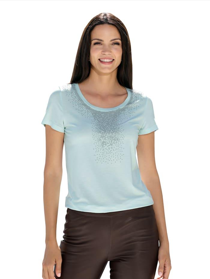 AMY VERMONT Shirt mit Strasssteinen, Mintgrün