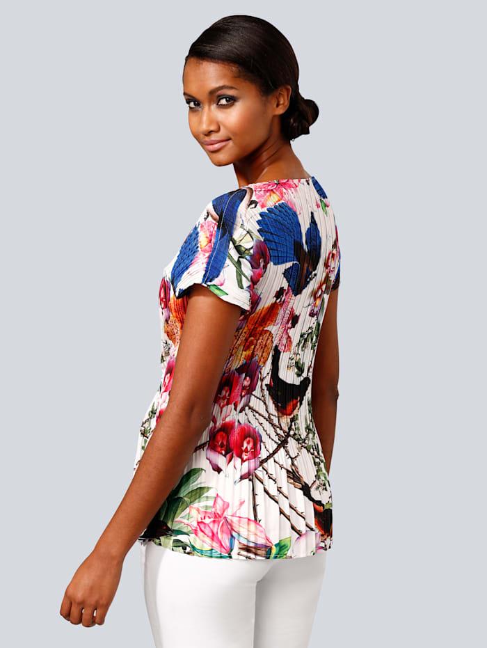 Blusenshirt mit femininem allover Print