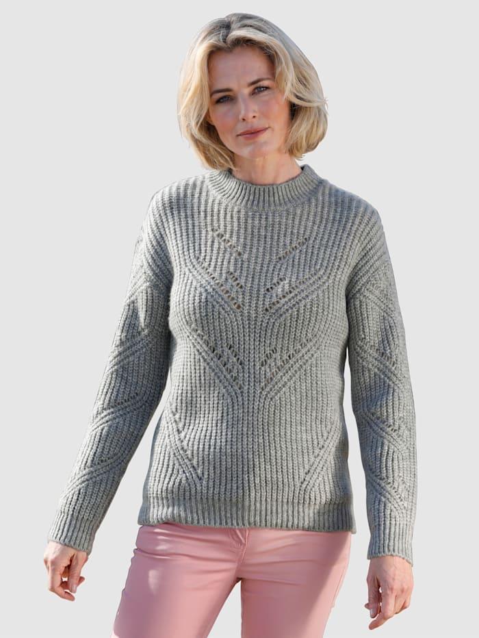 Dress In Pullover mit Glitzergarn, Grau
