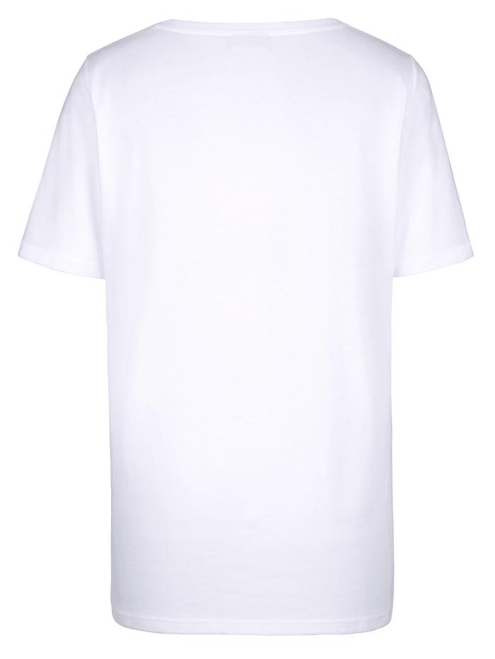 Shirt mit platziertem Glitzerdruck