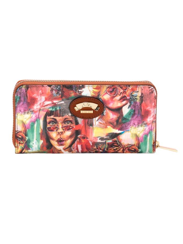 Ara Portemonnee van vrolijk gekleurd softmateriaal, Multicolor