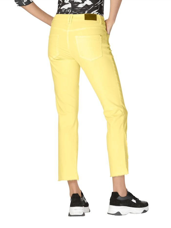Jeans mit Fransendeko