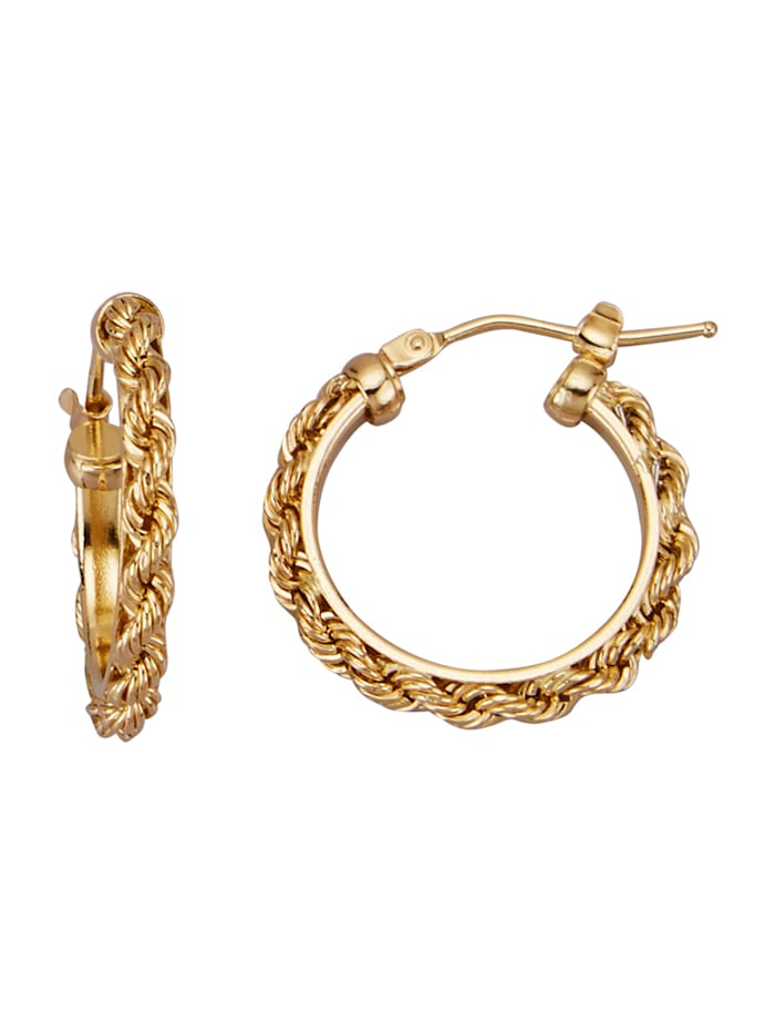 Diemer Gold Kultaiset korvarenkaat, Keltakullanvärinen