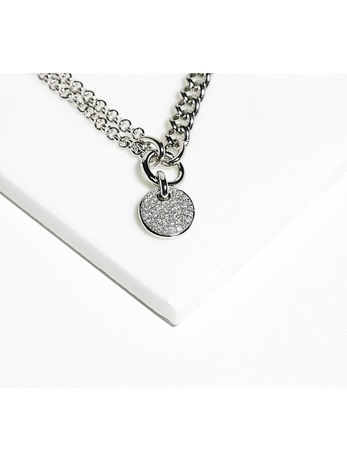 JETTE Silver Damen-Armband 925er Silber 46 Zirkonia