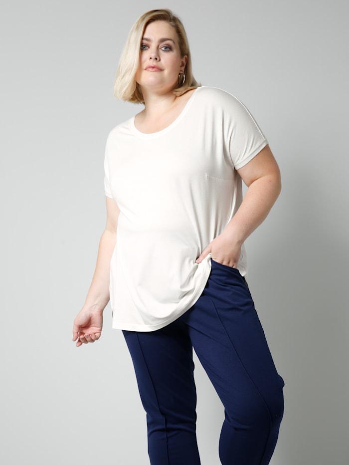Sara Lindholm Shirt in losjesvallend model, Offwhite