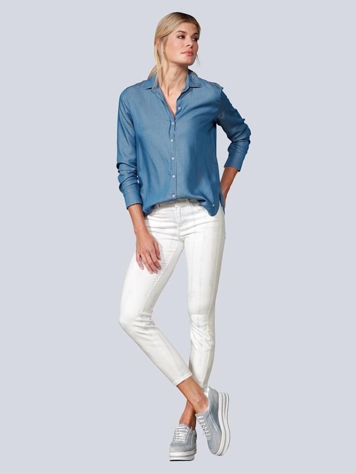 Jeans im Streifenlook