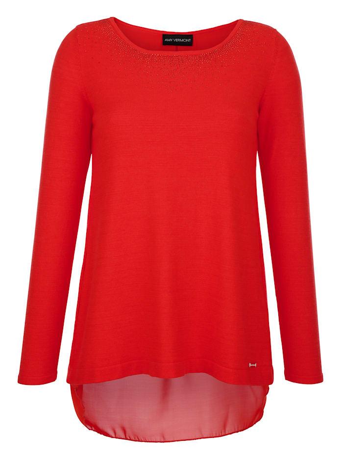 AMY VERMONT Pullover in Layer-Optik, Orange