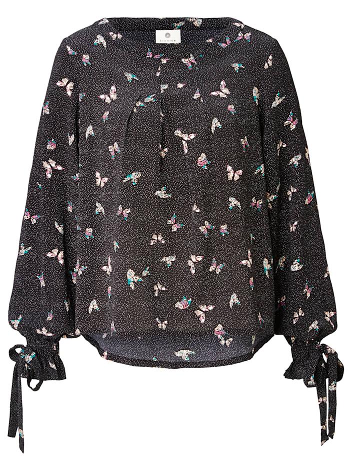 Bluse Mit Schmetterlingsdruck