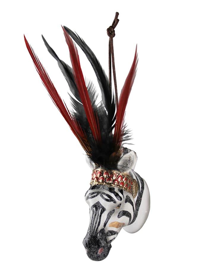 AM Design Hänger, Zebra, schwarz/weiß/rot