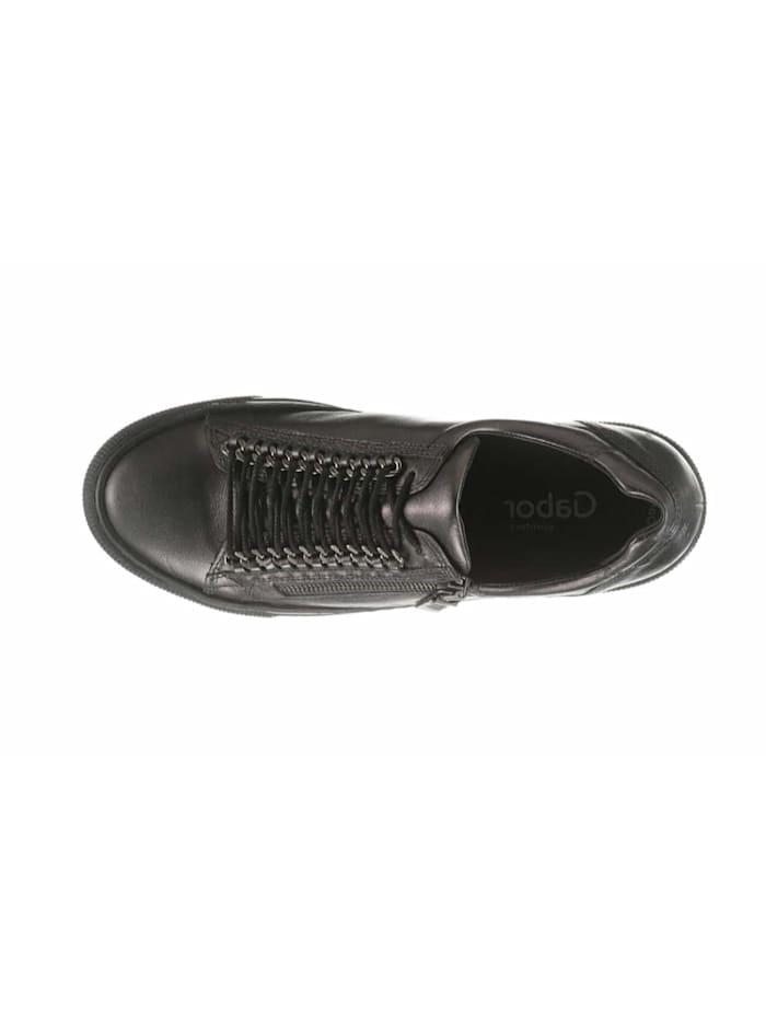 Damen Schnürschuh in dunkel-grau