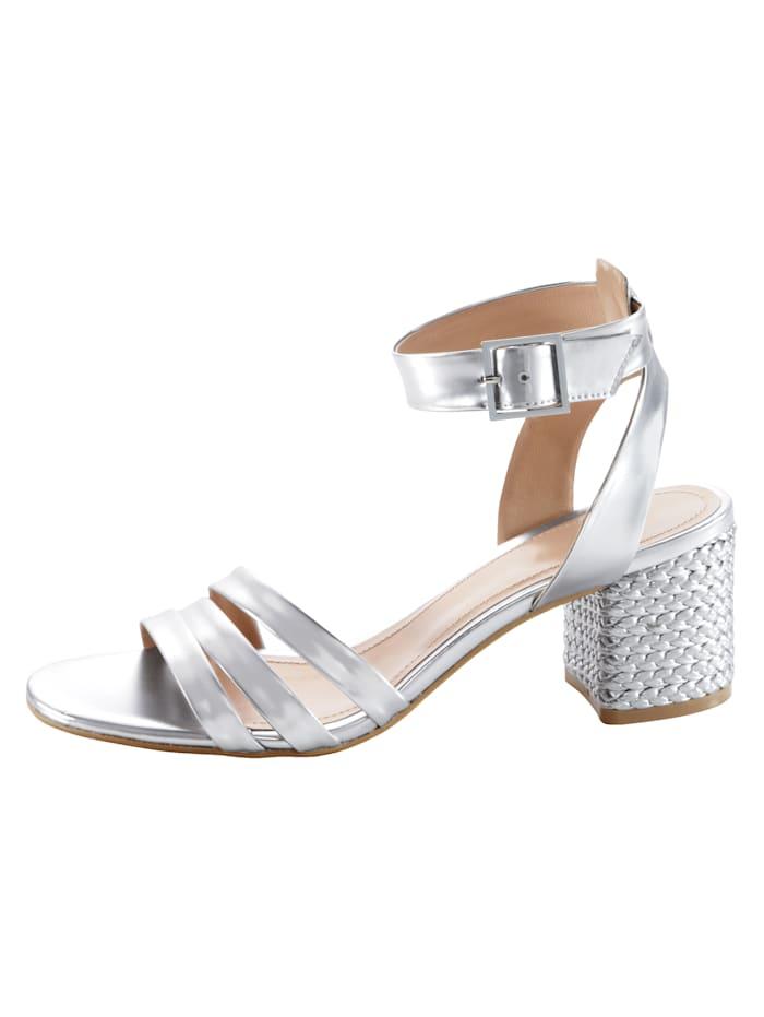 Sandalette im metallischen Look