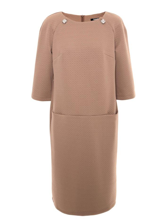Madam-T A-Linien-Kleid Ferule, hellbraun