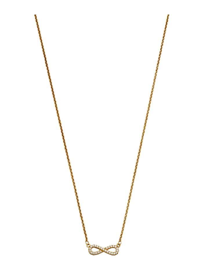 Infinity-Collier in Silber 925, vergoldet, Gelbgoldfarben