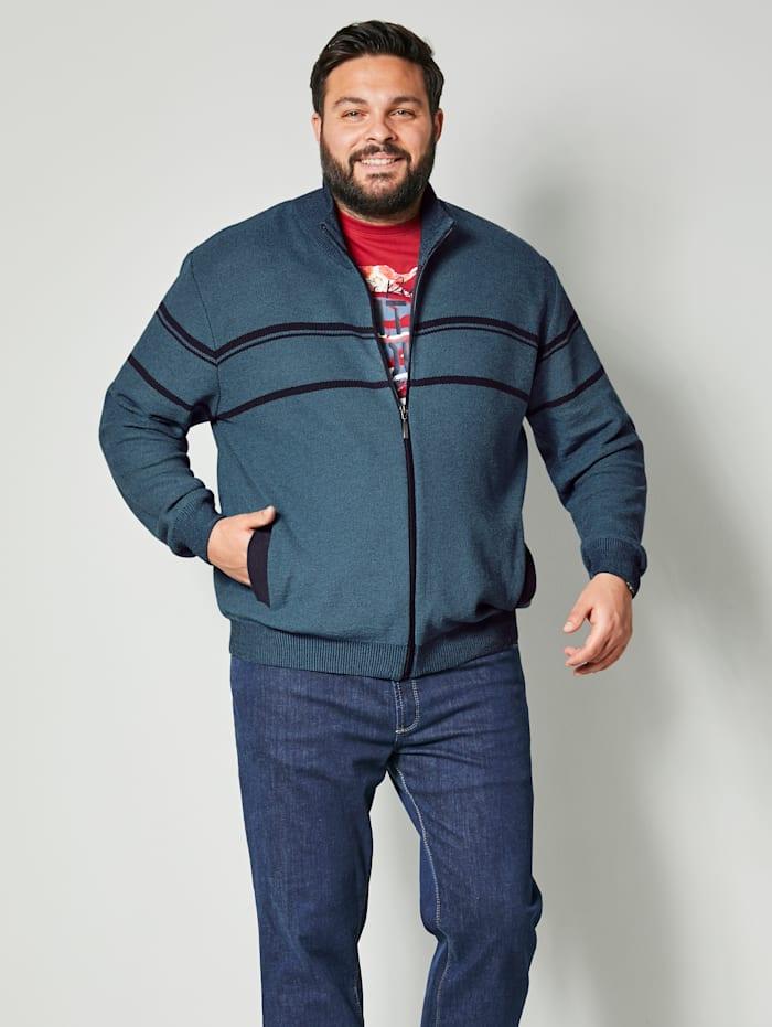 Men Plus Vest met opstaande kraag, Rookblauw/Nachtblauw