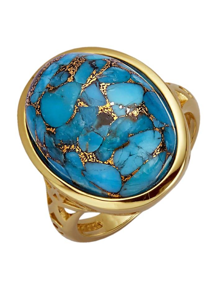 Diemer Farbstein Damesring, Turquoise