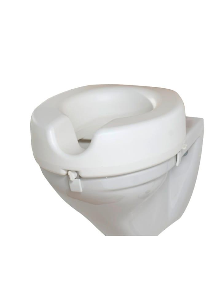 Wenko WC Sitz-Erhöhung Secura, 150 kg Tragkraft, Weiß