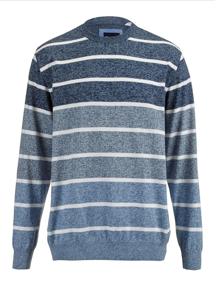 BABISTA Pullover mit effektvollem Farbverlauf, Blau/Ecru