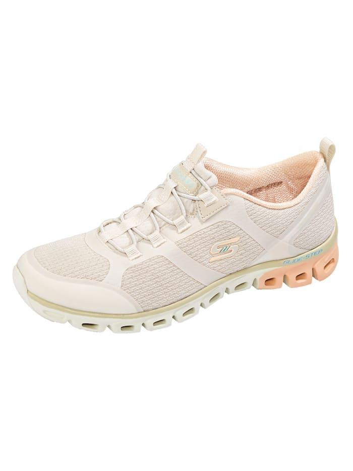 Skechers Chaussures de sport à semelle de marche en caoutchouc/EVA, Blanc