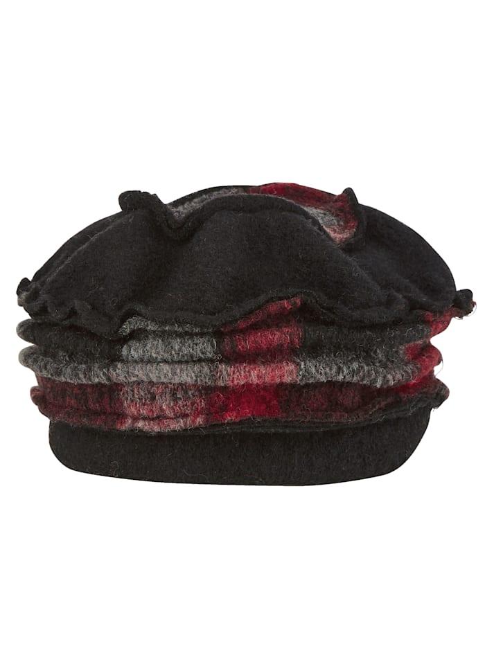 Chapeau en laine foulée