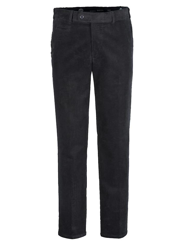 BABISTA Pantalon en velours côtelé en matière stretch, Anthracite
